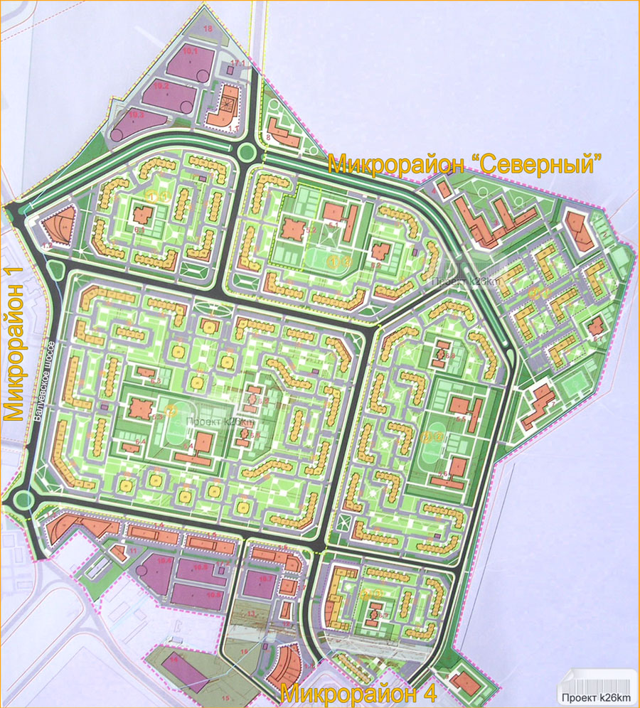 Схема архитиктурно-планировочной организации территории (для увеличения изображения нажмите клавишу f) .