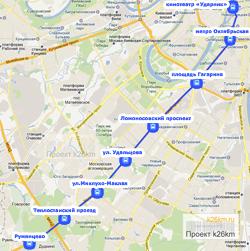 Выделенная полоса на Ленинском проспекте
